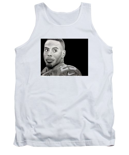 Rashad Jennings Drawing Tank Top by Angelee Borrero
