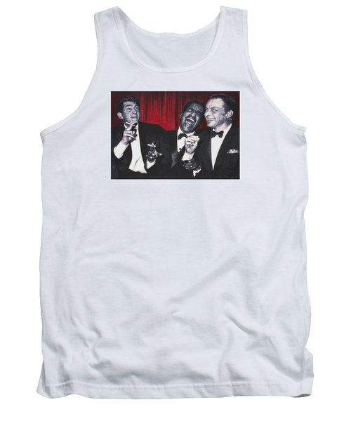 Tank Top featuring the painting Rat Pack by Luis Ludzska