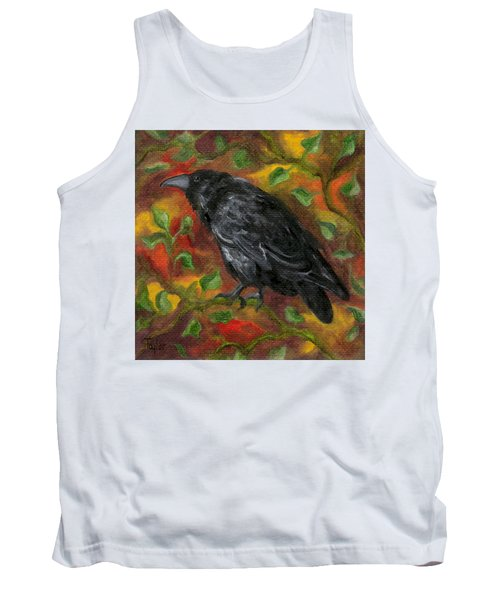 Raven In Autumn Tank Top