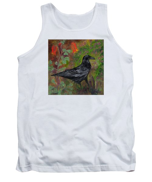 Raven In Columbine Tank Top by FT McKinstry
