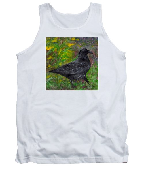 Raven In Goldenrod Tank Top by FT McKinstry