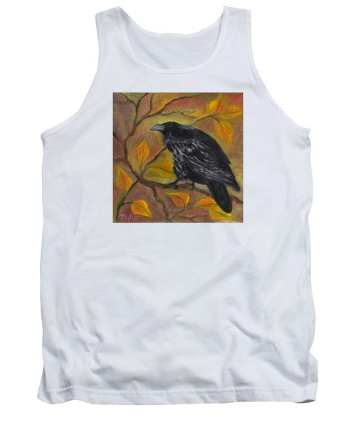 Raven On A Limb Tank Top by FT McKinstry