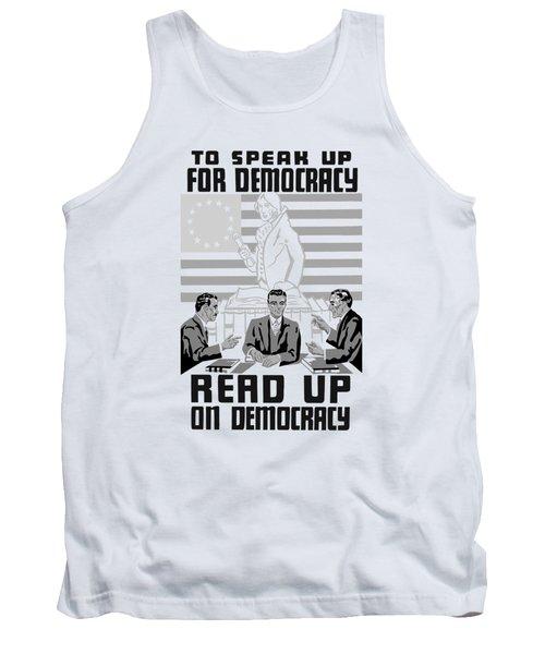 Read Up On Democracy - Vintage Wpa Tank Top