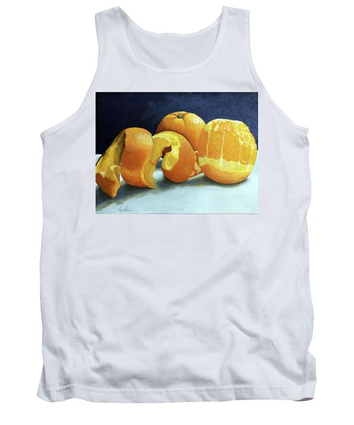 Tank Top featuring the painting Ready For Oranges by Linda Apple