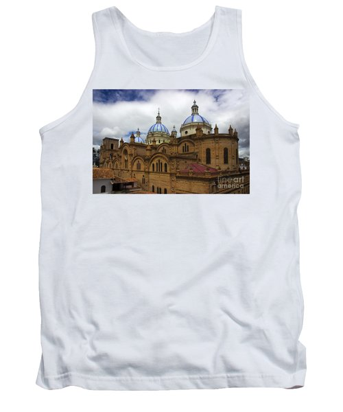 Rear Corner View Of Immaculate Conception Cathedral Tank Top by Al Bourassa