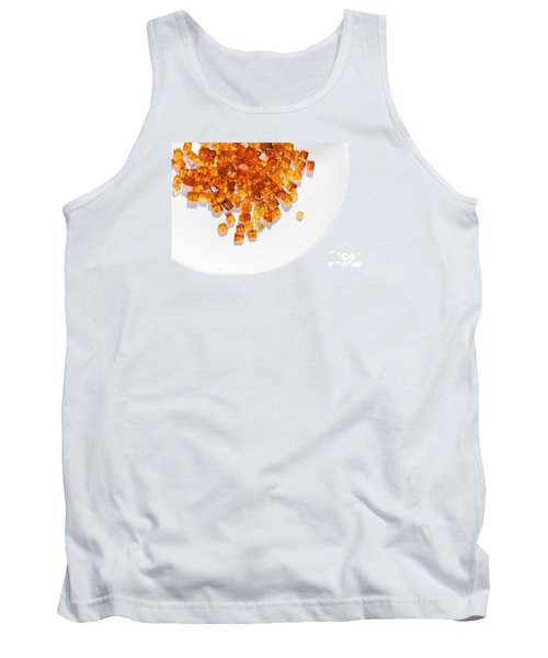 Tank Top featuring the photograph Rectangular Stones Yellow Amber  by Andrey  Godyaykin