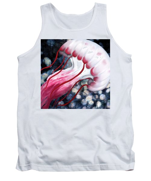 Red And White Jellyfish  Tank Top