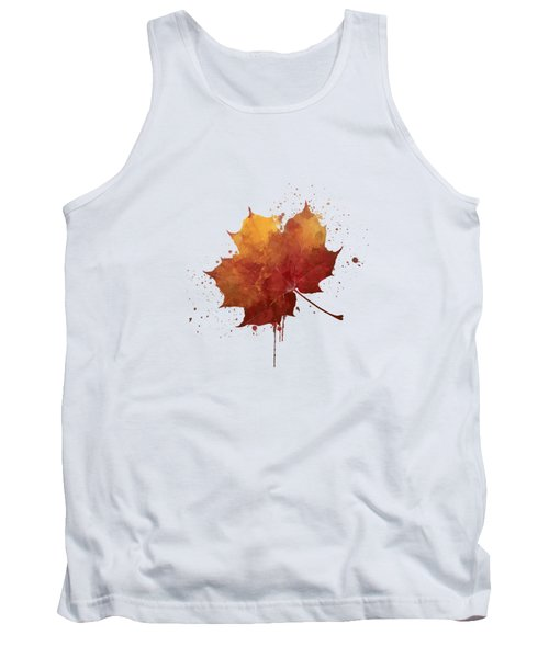 Red Autumn Leaf Tank Top