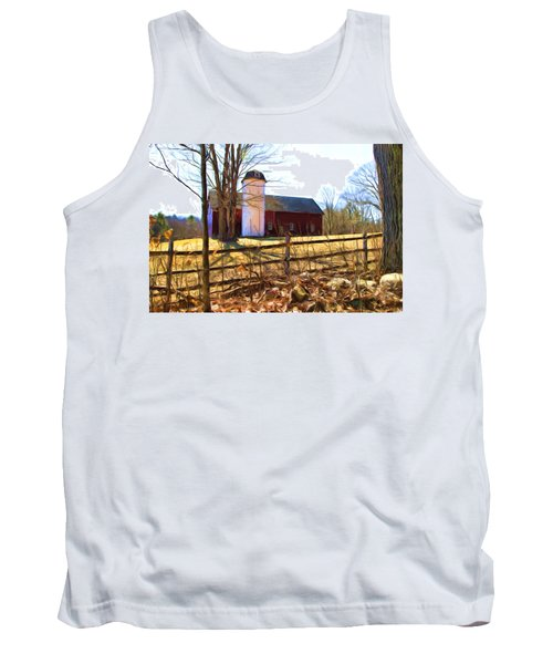 Red Barn And Silo  Tank Top