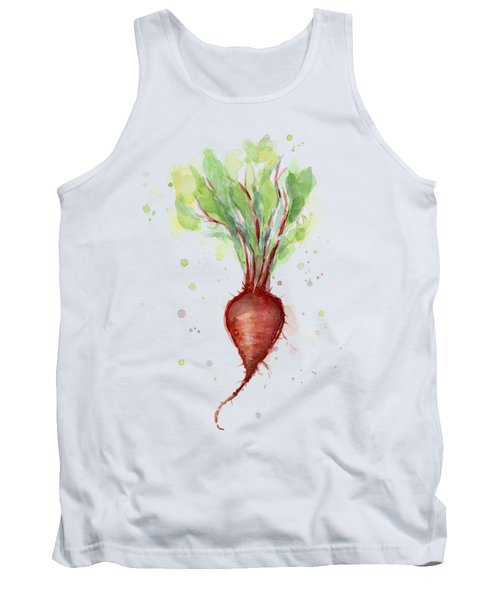 Red Beet Watercolor Tank Top