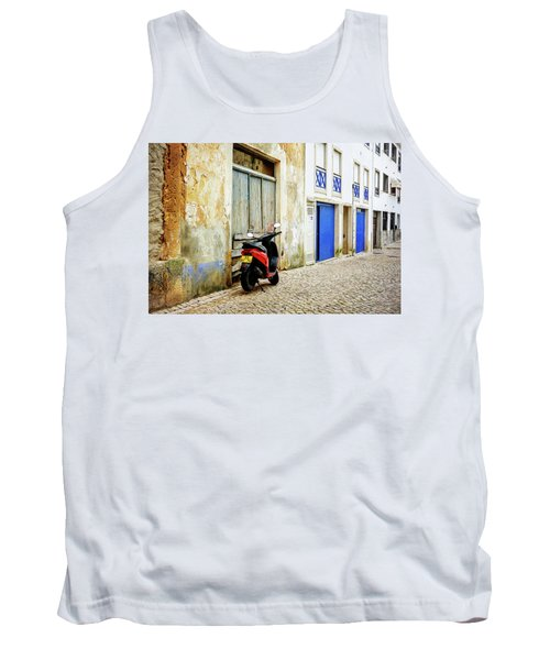 Tank Top featuring the photograph Red Bike by Marion McCristall