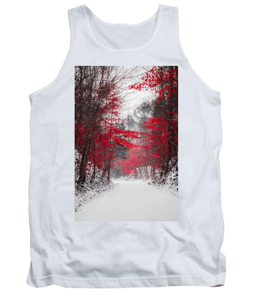 Red Blossoms  Tank Top