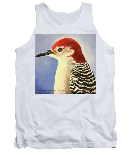 Red Breasted Woodpecker Two Tank Top