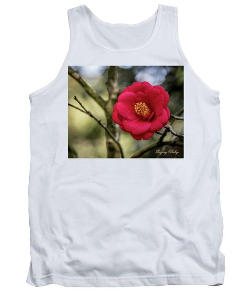 Red Camelia 05 Tank Top