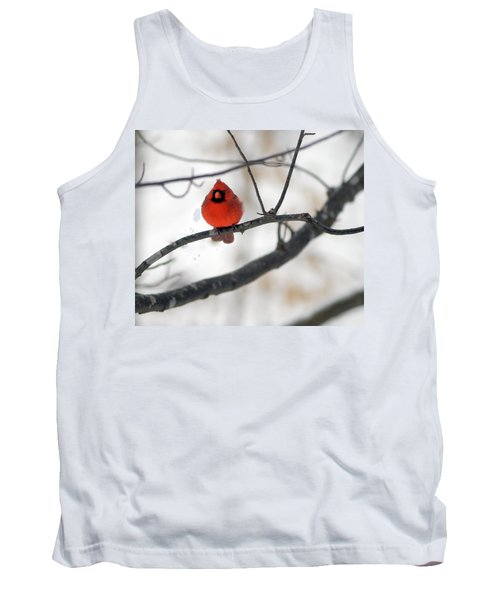 Tank Top featuring the photograph Red Cardinal In Snow by Marie Hicks