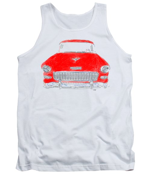 Red Chevy T-shirt Tank Top