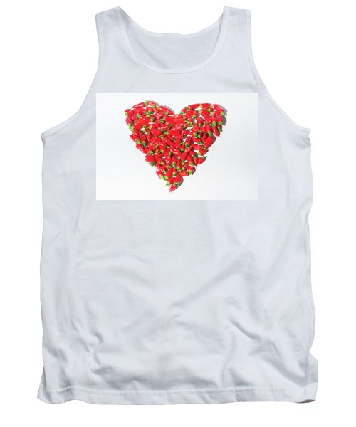 Red Chillie Heart II Tank Top