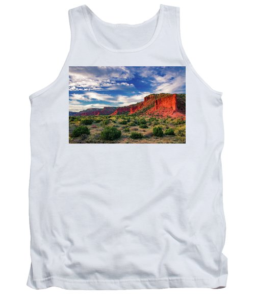 Red Cliffs Of Caprock Canyon 2 Tank Top