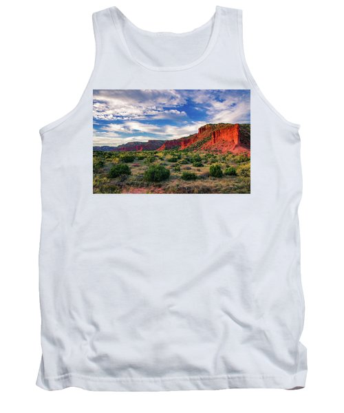 Red Cliffs Of Caprock Canyon Tank Top