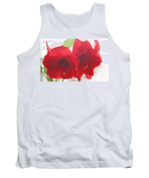 Tank Top featuring the photograph Amaryllis by Rebecca Harman