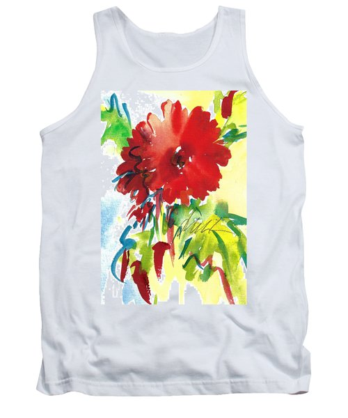 Gerberas Red, White, And Blue Tank Top