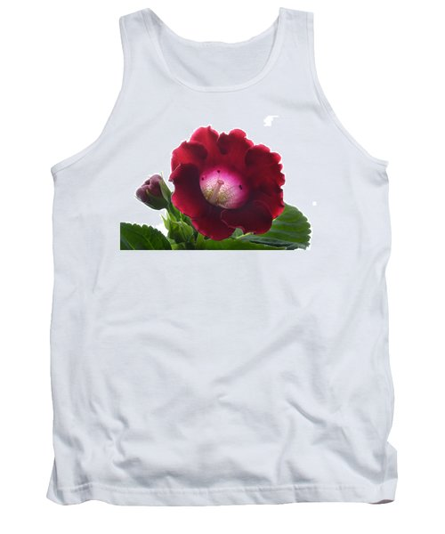 Red Gloxinia. Tank Top by Terence Davis