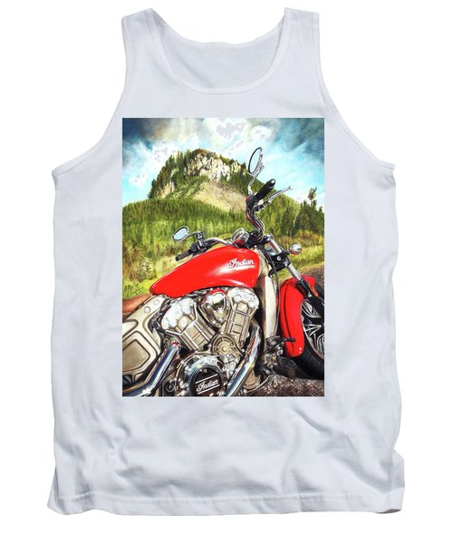 Red Indian Summer Tank Top
