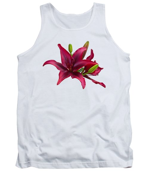 Tank Top featuring the photograph Red Lilies by Jane McIlroy