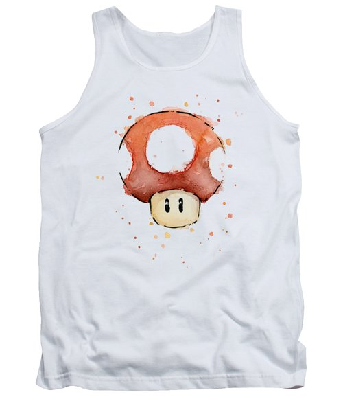 Red Mushroom Watercolor Tank Top