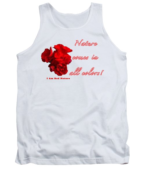Red Nature Tank Top by Terry Wallace