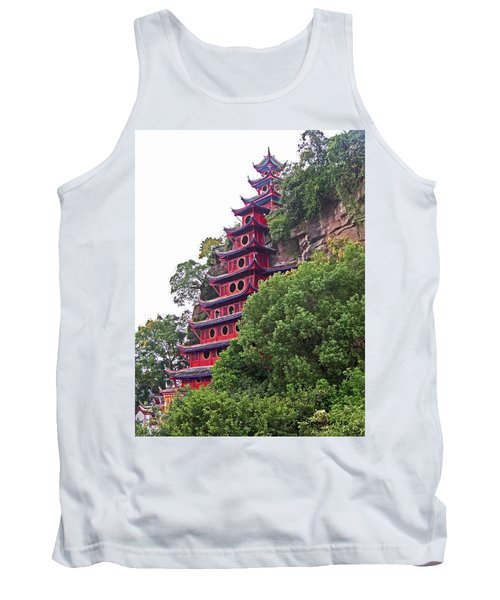 Red Pagoda Tank Top