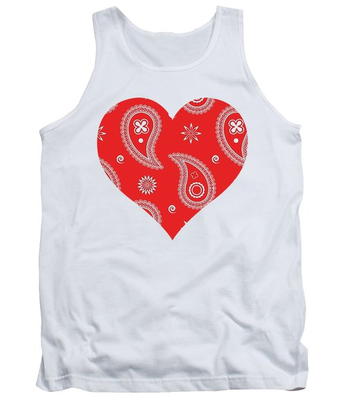Red Paisley Tank Top