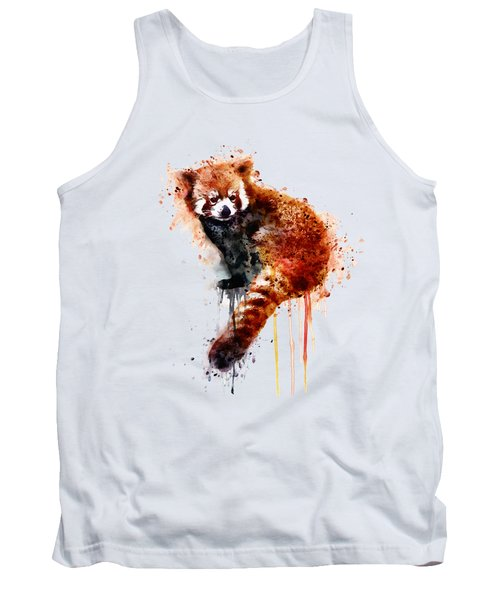 Red Panda Tank Top by Marian Voicu