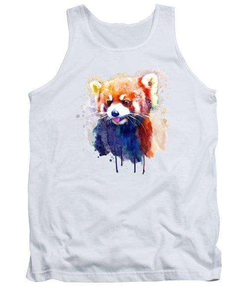 Red Panda Portrait Tank Top