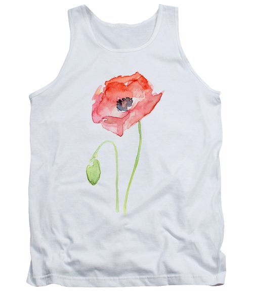 Red Poppy Tank Top