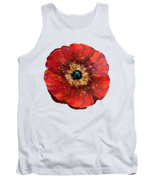 Red Poppy Transparent  Tank Top
