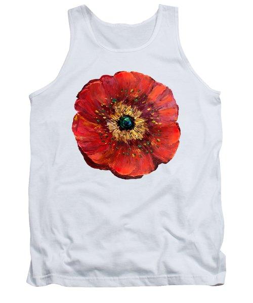 Red Poppy Transparent  Tank Top