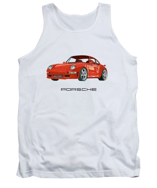 Red Porsche 993 1997 Twin Turbo R Tank Top