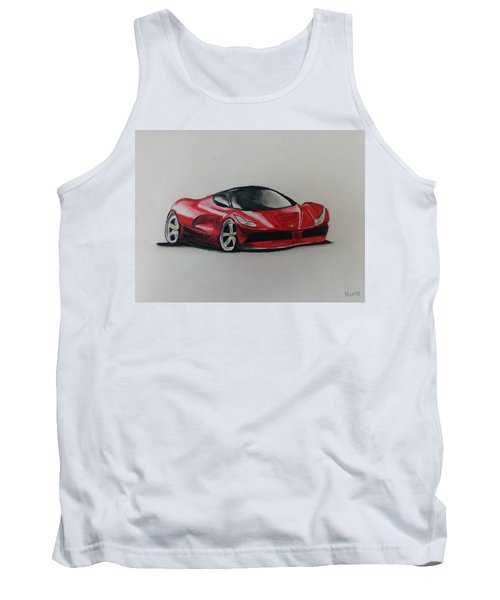 Red Racer Tank Top