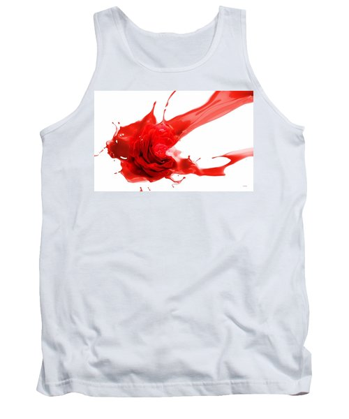 Tank Top featuring the mixed media Red Rose by Gabriella Weninger - David