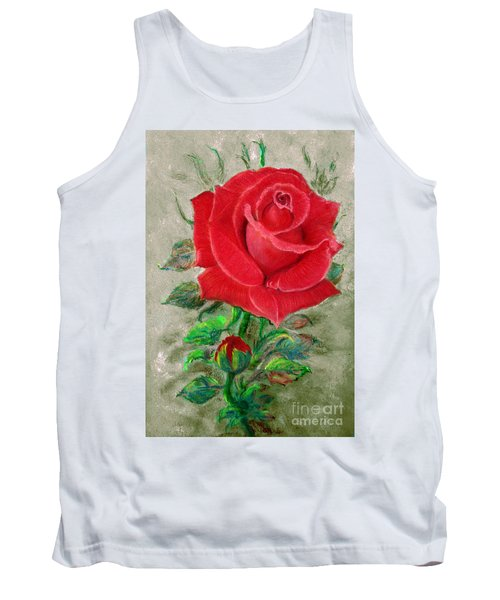 Red Rose Tank Top by Jasna Dragun