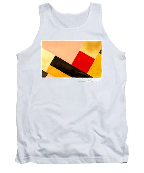 Red Square Tank Top