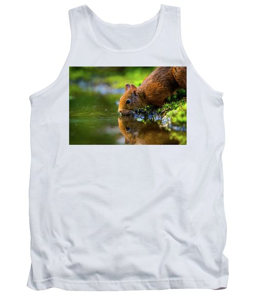 Red Squirrel Tank Top