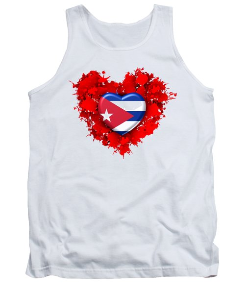 Red Stain Love To Cuba Tank Top