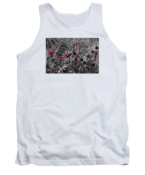 Tank Top featuring the photograph Red Streaks by Deborah  Crew-Johnson