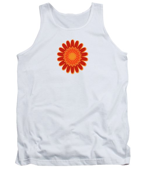 Red Sunflower Pattern Tank Top