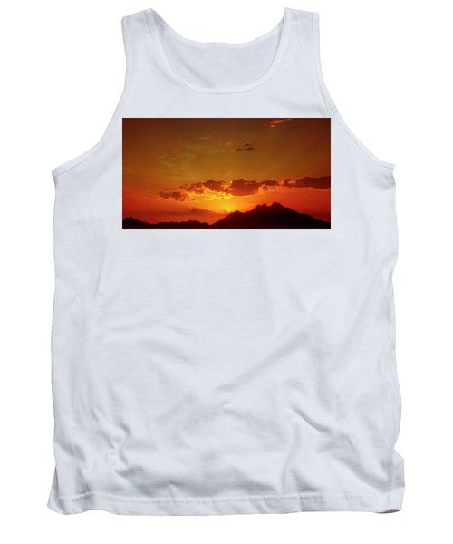 Red Sunset In Africa 2 Tank Top
