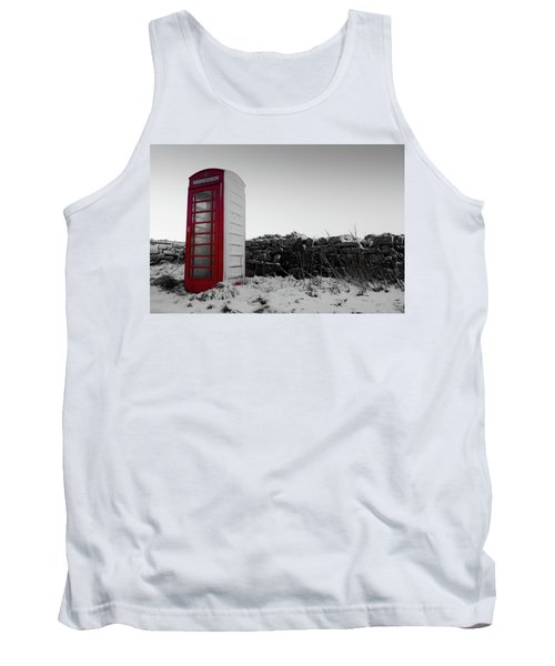 Red Telephone Box In The Snow Vi Tank Top