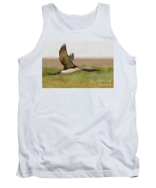 Red-throated Loon In Flight Tank Top