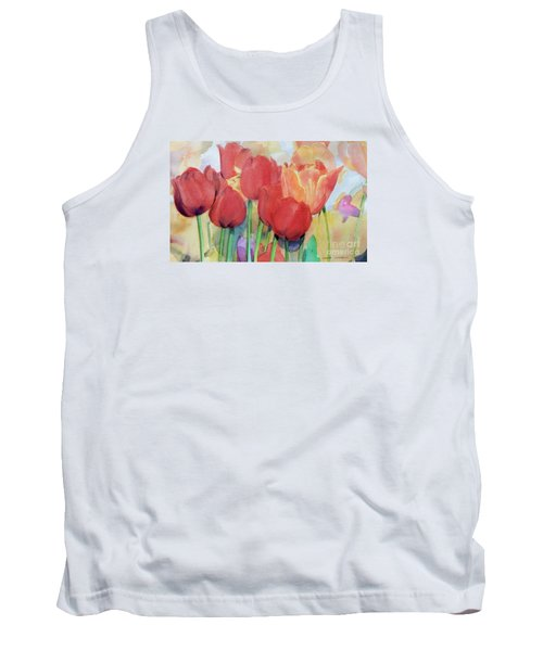 Red Tulips In Spring Tank Top